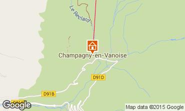 Map Champagny en Vanoise Apartment 578