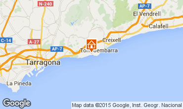Map Tarragona Apartment 8176
