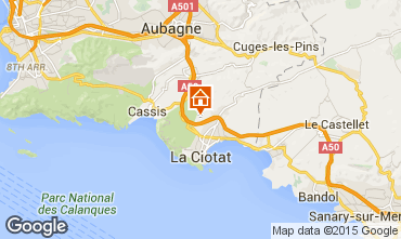 Map La Ciotat Villa 5926