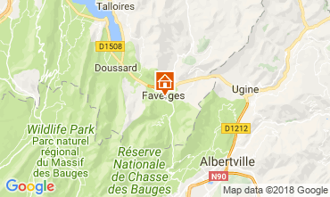 Map Annecy Apartment 115485