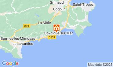 Map Cavalaire-sur-Mer Apartment 113552