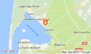 Map Andernos les Bains Villa 111085