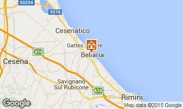 Map Bellaria Igea Marina Apartment 79298