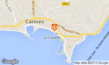 Map Cannes One-room apartment 16282
