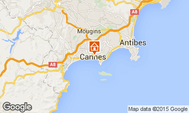 Map Cannes One-room apartment 33342