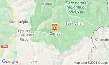 Map Ceillac en Queyras Apartment 560
