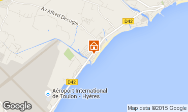 Map Hyères Apartment 5820