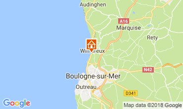 Map Wimereux One-room apartment 24874