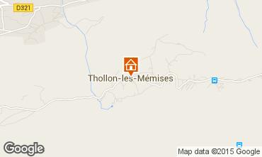 Map Thollon Les Mémises Apartment 81227