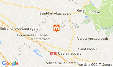 Map Carcassonne Vacation rental 111797