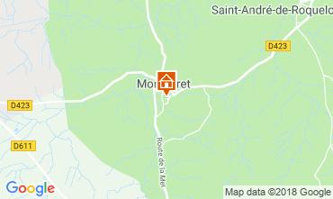 Map Montséret Vacation rental 116202