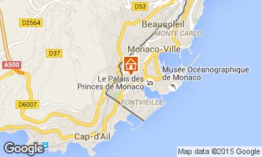 Map Monaco One-room apartment 97091