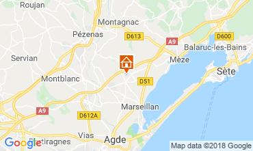 Map Cap d'Agde Villa 116895