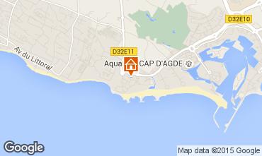Map Cap d'Agde Villa 26326