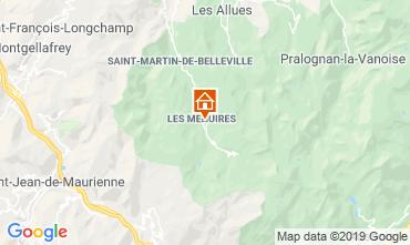 Map Les Menuires One-room apartment 15434