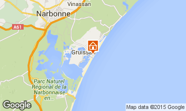 Map Gruissan-Plage Apartment 56156
