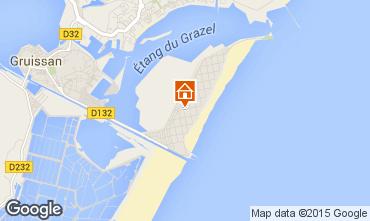 Map Gruissan-Plage Apartment 56156