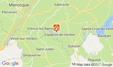 Map Esparron-de-Verdon Villa 108016