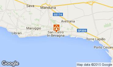 Map Manduria Apartment 63845
