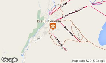 Map Cervinia (Breuil) Apartment 80539