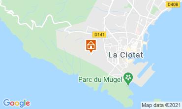 Map La Ciotat Vacation rental 113946