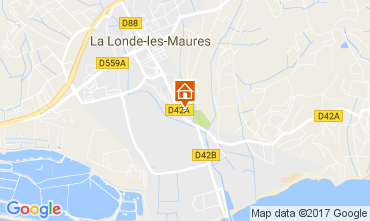Map La Londe les Maures House 108421