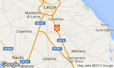 Map Lecce Apartment 57535