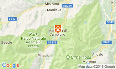 Map Madonna di Campiglio Apartment 115291