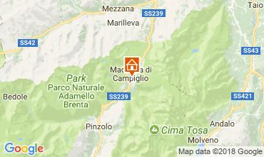 Map Madonna di Campiglio Apartment 115291