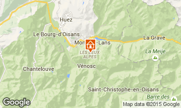 Map Les 2 Alpes Apartment 49434