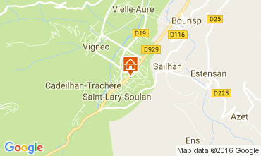 Map Saint Lary Soulan Apartment 106630
