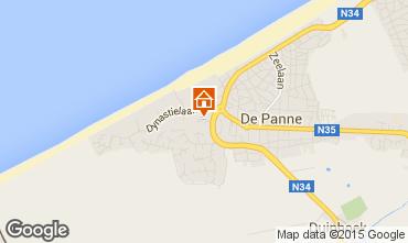 Map De Panne Apartment 59835