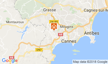 Map Cannes Vacation rental 112877