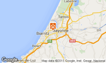 Map Biarritz One-room apartment 55368