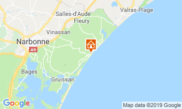 Map Narbonne plage Apartment 97752