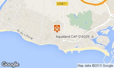 Map Cap d'Agde Villa 100129