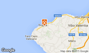 Map Tropea One-room apartment 36536