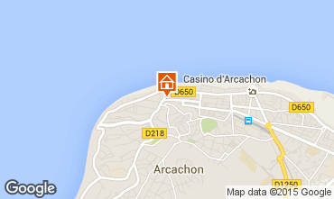 Map Arcachon Apartment 61328