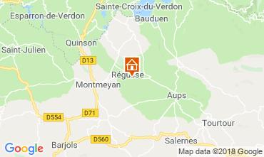 Map Régusse Villa 116818