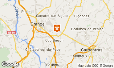 Map Avignon Vacation rental 86302