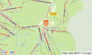 Map Les Arcs Apartment 80738
