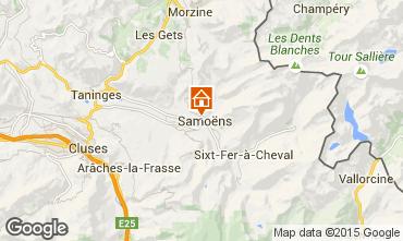 Map Samoëns One-room apartment 41028