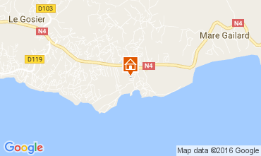 Map Gosier (Guadeloupe) One-room apartment 106679