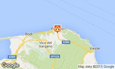 Map Peschici Apartment 32145