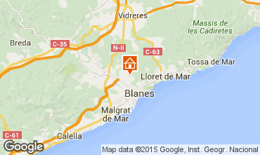 Map Blanes Apartment 77586