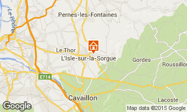 Map Isle sur la Sorgue Vacation rental 92429