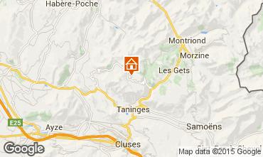 Map Praz de Lys Sommand Chalet 2379