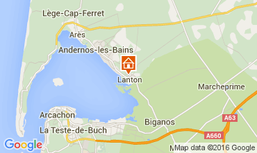Map Arcachon Vacation rental 102918