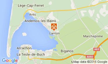 Map Arcachon Vacation rental 102918