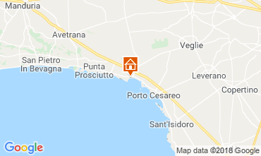 Map Porto Cesareo Bed and breakfast 114377